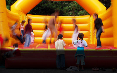 Kids on Bounce House