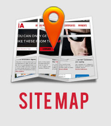 Sitemap with a picture of a map