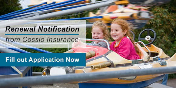 90 Day Insurance Renewal Notification from Cossio Insurance